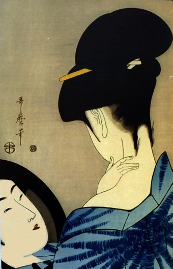 An Utamaro beauty.