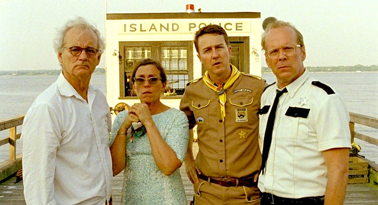 Moonrise Kingdom Bill Murray Frances McDormand Edward Norton Bruce Willis
